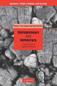 Entrepeneurs and Democracy book cover